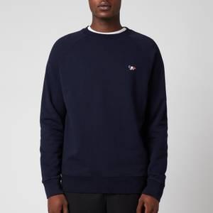 Maison Kitsuné Men's Tricolor Fox Patch Clean Sweatshirt - Navy