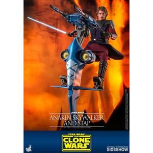 Hot Toys Star Wars The Clone Wars Actiefiguur 1/6 Anakin Skywalker & STAP 31 cm
