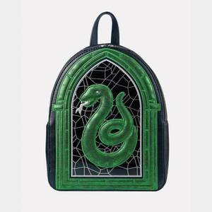 Danielle Nicole Harry Potter Slytherin Stained Glass Window Backpack