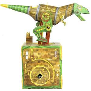 Totally Glueless Magnificent Dinosaur Machine Card Model