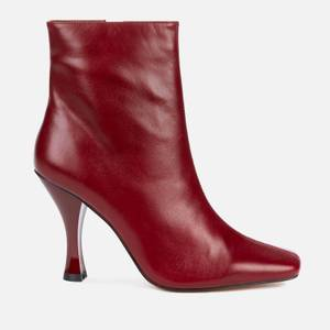 Kurt Geiger London Women's Rocco Leather Heeled Boots - Wine
