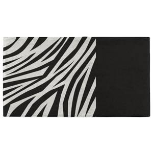 Zebra Print Monochrome Fitness Towel