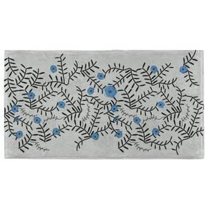 Flower Power Blue Fitness Towel