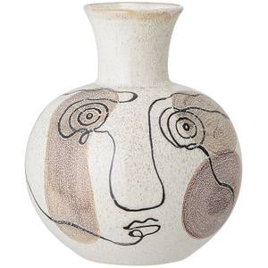 Bloomingville Face Stoneware Vase - White