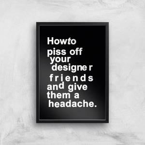Kubistika The Headache Giclee Art Print