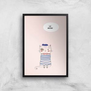 Kubistika Le Meow Giclee Art Print