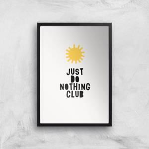 Kubistika Do Nothing Cub Giclee Art Print