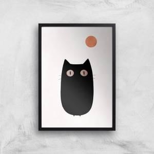 Kubistika The Cat Giclee Art Print