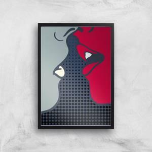 Kubistika The Kiss Giclee Art Print