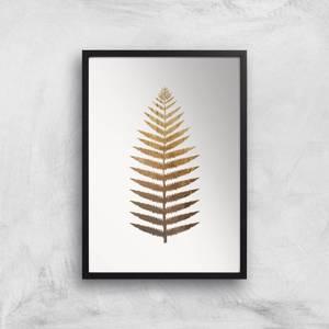 Kubistika Golden Leaf No.7 Giclee Art Print