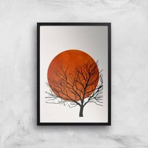 Kubistika Warm Winter Giclee Art Print