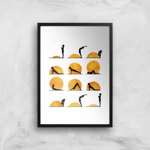 Kubistika Yoga Sun Giclee Art Print