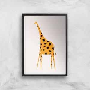 Kubistika Yellow Giraffe Giclee Art Print