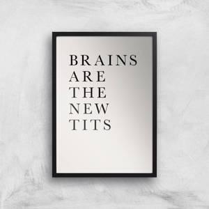 Kubistika Brains Are The New Tits Giclee Art Print