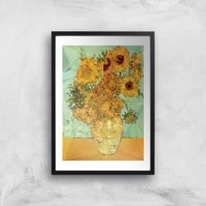 Kubistika Symphony In Yellow And Blue Giclee Art Print