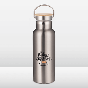 Friends I'd Rather Be Watching Portable Insulated Water Bottle - Steel