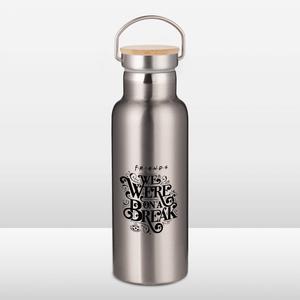 Friends We Were On A Break Portable Insulated Water Bottle - Steel