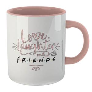 Friends Love, Laughter & Friends Mug - White/Pink