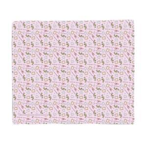 Friends Warm Tone Pattern Fleece Blanket