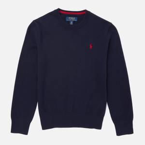 Polo Ralph Lauren Boys' Crew Neck Sweatshirt - Blue