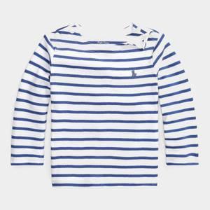 Polo Ralph Lauren Stripe Long Sleeve Top - White