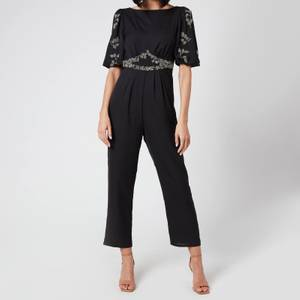 Hope & Ivy Women's The Romilly Low Back Jumpsuit - Black