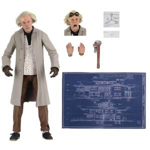 """NECA Back to the Future 7"""" Scale Action Figure Ultimate Doc Brown"""