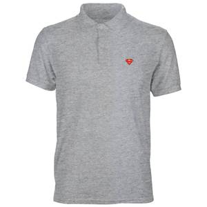 DC Superman Unisex Polo - Grey