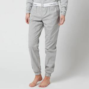 Calvin Klein Women's Modern Cotton Woven Joggers - Grey Heather