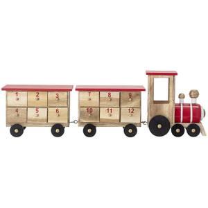Bloomingville Wooden Train Advent Calendar