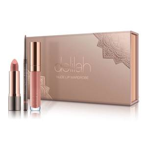 delilah Nude Lip Wardrobe Holiday Collection (Worth £66.00)