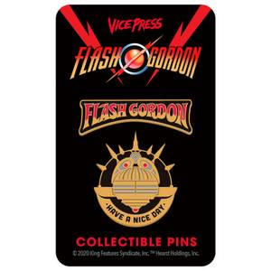 Flash Gordon Limited Edition Hard Enamel Pin Set 2 by Florey