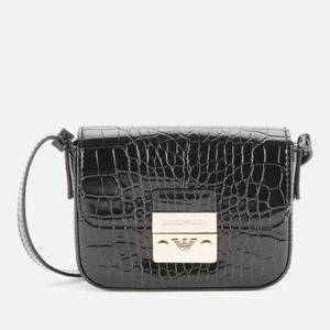 Emporio Armani Women's Mini Croc Bag - Dark Brown