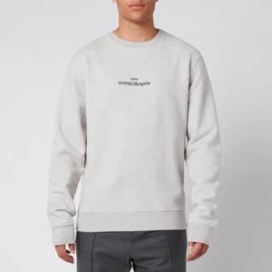 Maison Margiela Men's Mirrored Logo Sweatshirt - Grey Melange
