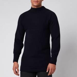Maison Margiela Men's Funnel Neck Sweatshirt - Navy