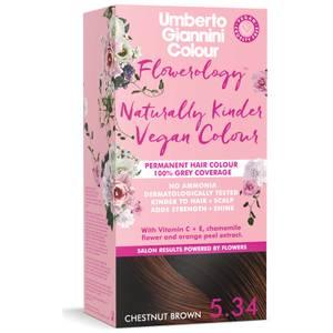 Umberto Giannini Flowerology Naturally Kinder Colour - Chestnut Brown 5.34 195ml