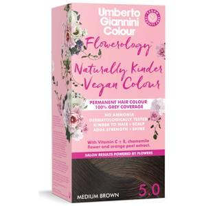 Umberto Giannini Flowerology Naturally Kinder Colour - Medium Brown 5.0 195ml