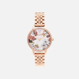 Olivia Burton Women's Sparkle Florals Demi Rose Sparkle Bracelet Watch - Gold