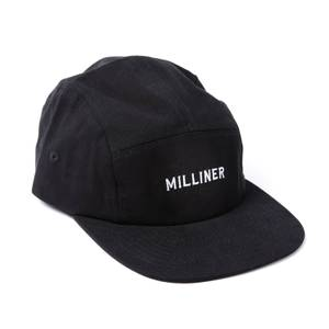Milliner 5 Panel Cotton Black with Milliner Embroidered