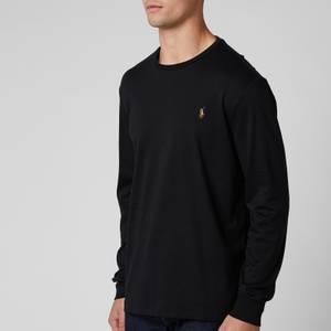 Polo Ralph Lauren Men's Custom Slim Fit Long Sleeve T-Shirt - Polo Black