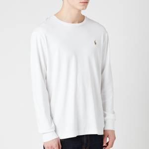 Polo Ralph Lauren Men's Custom Slim Fit Long Sleeve T-Shirt - White