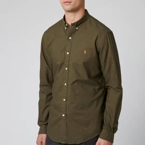 Polo Ralph Lauren Men's Slim Fit Garment Dyed Oxford Shirt - Defender Green