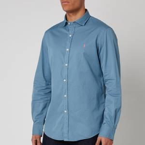 Polo Ralph Lauren Men's Long Sleeve Sport Shirt - Camp Blue
