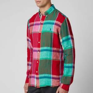 Polo Ralph Lauren Men's Sport Shirt - Red/Green Multi