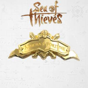 Sea of Thieves Athena's Fortune Ship Plaque 24K Gold Plated Limited Edition Replica