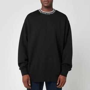 Acne Studios Men's Logo Rib Sweatshirt - Black