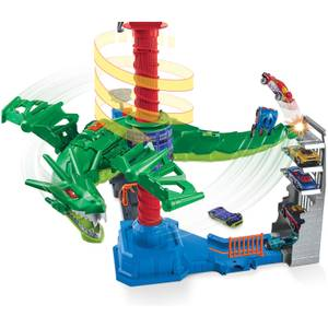 Hot Wheels City Air Attack Dragon Playset