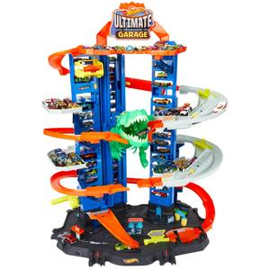 Hot Wheels Ultimate Garage Playset with T-Rex Attack