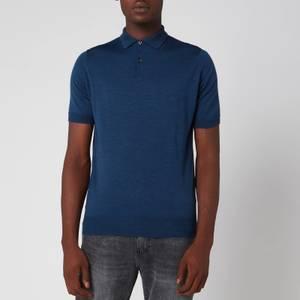 John Smedley Men's Payton 30 Gauge Extra Fine Merino Wool Polo-Shirt - Indigo
