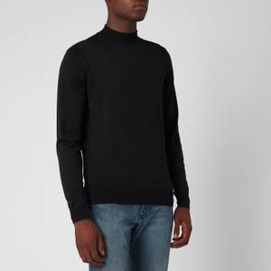 John Smedley Men's Harcourt 30 Gauge Extra Fine Merino Wool Turtleneck Jumper - Black